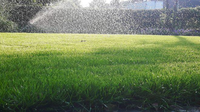 Automatische gras beregening
